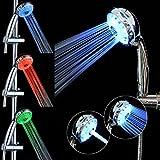 GreForest LED cambia la cabeza de ducha 3 Control de temperatura de color