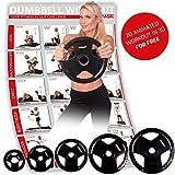 POWRX Olympia Hantelscheiben 2er Set | gummierte Gewichte für Langhanteln | Verschiedene Gewichtsvarianten 2,5-20 kg | Lochdurchmesser 51 mm (2 x 7,5 kg)