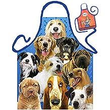 Hunde Dogs Pons Caninos - Fun Motiv Schürze - mit kleiner Mini-Schürze als Präsent