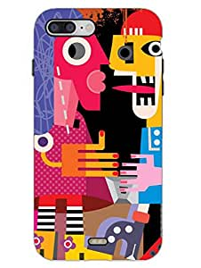 MADANYU Random Abstract Art Designer Printed Hard Back Shell Case For Apple iPhone 7