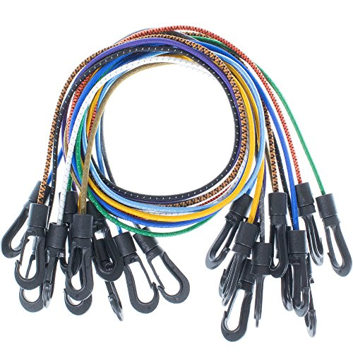 Tan-stretch-cord (Paracord Planet Shock Cord Kits - DIY Bungee Cords & Tie-Downs - Choose from 5, 10, and 20 Feet Lengths - Rainbow of Colors Available)