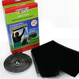 insektenschutz fliegengitter f r das fenster inkl klettband 130 x 150 cm k che. Black Bedroom Furniture Sets. Home Design Ideas