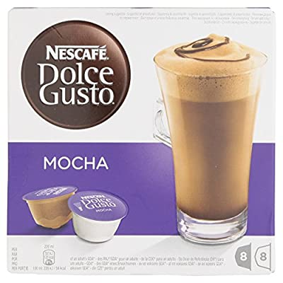 Nescafe Dolce Gusto Mocha Coffee Pods 16 Capsules - Pack of 3 (Total 48 Capsules, 24 Servings) by Nestle