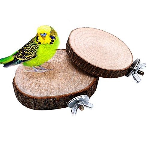 Vogel Spielzeug,Dairyshop Haustier Vogel Papagei Kauen Spielzeug Holz Hängen Schwingen Birdcage Parakeet Cockatiel Käfige (Käfig Vogel Holz)