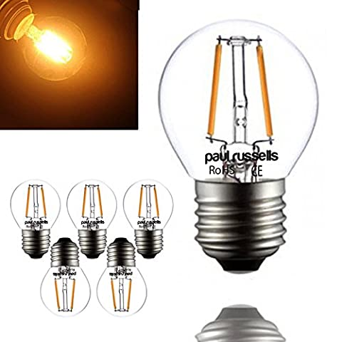 5 x 2W / 4W G45 E27 Mini Globe LED