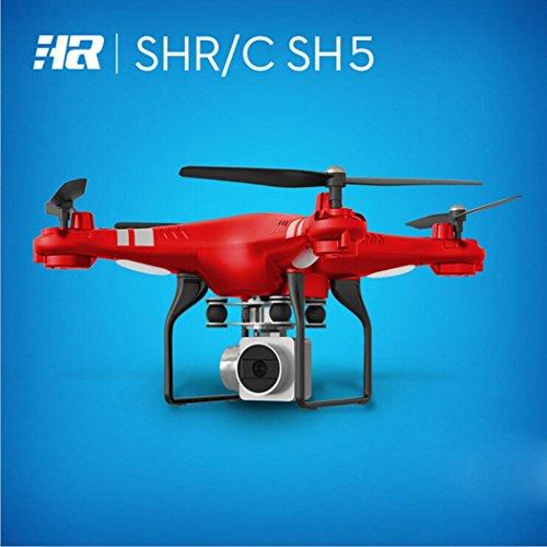 QUINTRA Weitwinkelobjektiv HD Kamera Quadcopter RC Drone WiFi FPV Live Hubschrauber Hover (Rot) (Navigator Video Pocket)
