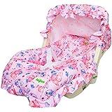 BAYBEE 5 In 1 Baby Carry Cot Cum Rocker (Pink)