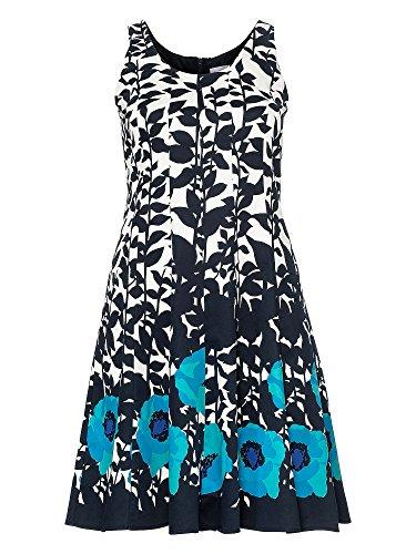 sheego Style Femmes Robe d'affaire Grandes tailles bleu foncé
