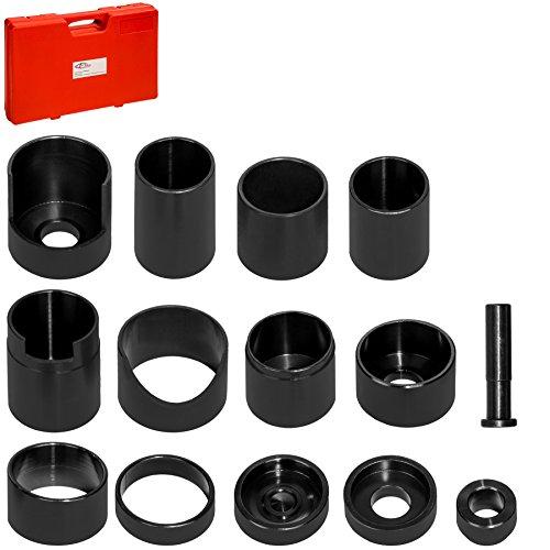 TecTake Treibsatz Austreiber 14tlg Set für Werkstattpressen mit Kunstoffkoffer