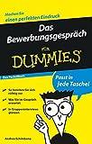 Das Bewerbungsgespräch für Dummies Das Pocketbuch