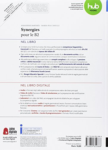 Synergies pour le B2. Per le Scuole superiori. Con CD Audio formato MP3. Con e-book. Con espansione online