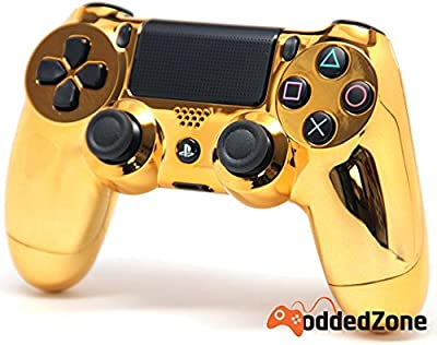 Chrome Gold Ps4 Custom UN-MODDED Controller Exclusive Design