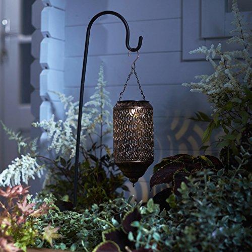 Lights4fun Farolillo Solar MarroquÍ Soporte para Decorar el Jardín