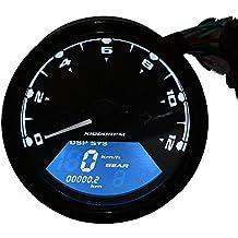 Bluefire universale LCD digitale Moto Contachilometri Tachimetro Contachilometri Assemblea per Honda Moto Scooter Dirt Bike (N. 6 Del Carburante Olio)