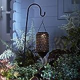 Lanterne Solaire Marocaine en Bronze avec LED Blanc Chaud sur Pique par Lights4fun