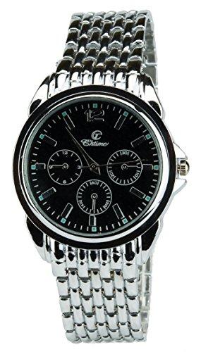 Geschenkset Herren Armbanduhr Schwarz- Schweizer Taschenmesser Taschenlampe - Brieftasche -Stift