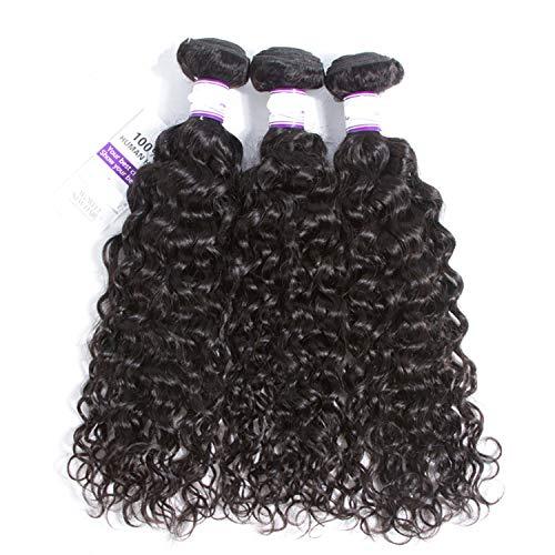 Haar Verlängerung Perücke (Natürliche Haarteile Indisches Wasser-Wellen-Körper-Haar 3 Bündel-Haar spinnt 100% menschliches Remy Haar-Einschlagfäden 8-28inch Körper-Haar-Verlängerung Perücken (Length : 8 10 12))