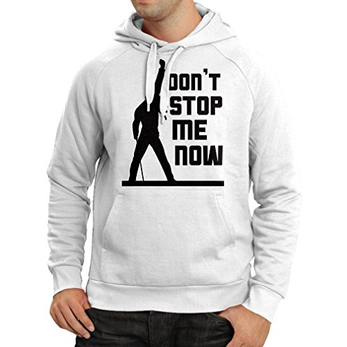 lepni.me Kapuzenpullover Don't Stop me Now! Fan Shirts, Musiker Geschenke, Rock Kleidung (Large Weiß Mehrfarben)