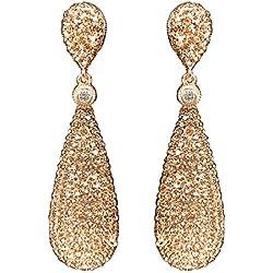 Rose gold dangle drop earrings
