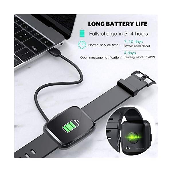 Hommie Smartwatch, S2 Reloj Inteligente con Pantalla Táctil Completa, Pulsera Actividad Inteligente ImpermeableIP67 con… 8