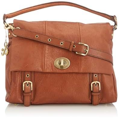 Robert Satchel Shoulder Bag 114HBL007_074 Tan