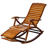 Lw yychair Sedia a Dondolo Sedia a Dondolo da Giardino, Poltrona Relax Relax Sedia a Dondolo Larga Bamboo Leisure