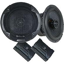 Bass Face negro serie de 6,5pulgadas 17cm de alto grado Full Range Altavoz coaxial de coche