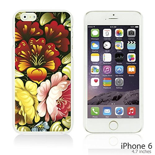 OBiDi - Flower Pattern Hardback Case / Housse pour Apple iPhone 6 / 6S (4.7 inch)Smartphone - Small Red Roses Folk Art Floral
