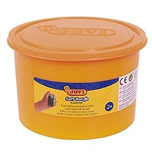 Jovi - Soft Dough Blandiver, Bote de 460 g, Color Naranja flúor (46005F)