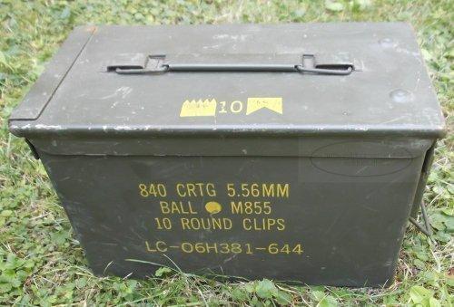 Preisvergleich Produktbild Munitionskiste Muni-Kiste original US, gebraucht, Metallkiste Behälter Metallbox