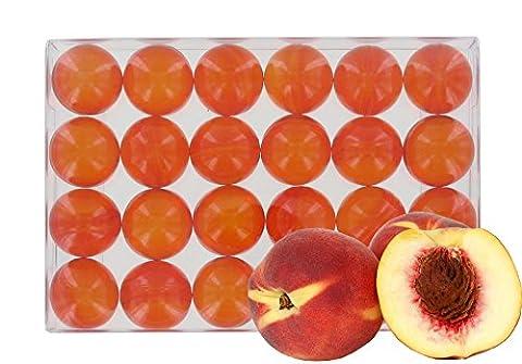 Box of 24 round oil bath pearls - fragrance peach