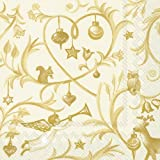 IHR Christmas Tales Gold napkins sumptuous luxury paper napkins new 20 in pack