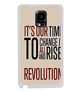 Fuson Designer Back Case Cover for Samsung Galaxy Note Edge :: Samsung Galaxy Note Edge N915Fy N915A N915T N915K/N915L/N915S N915G N915D (all rise revolution craft art)