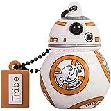 Tribe Disney Star Wars Pendrive - Memoria USB Flash Drive 2.0, de goma, 16 GB con llavero, diseño BB-8