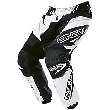 O 'Neal Element MX Pantalón Racewear Negro Blanco Motocross Enduro Offroad Quad, 0128-1