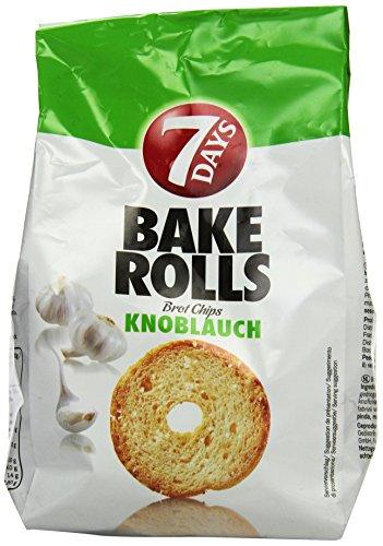 Preisvergleich Produktbild 7Days Bake Rolls Knoblauch,  8er Pack (8x 250 g Beutel)