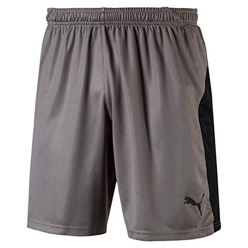 PUMA Herren Liga Shorts, Steel Gray Black, XXL (Puma Von Herren Fußball-shorts)