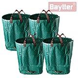 Baytter 4x 272L Gartenabfallsack aus PP-Gewebe Gartensack selbstaufstellend
