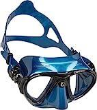 Cressi Erwachsene Nano Tauchmaske, Metallisches Blau, Uni