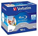 Verbatim BD-R Single Layer 25GB 6x Speed Printable Surface Scratchguard Plus, 10 Stück