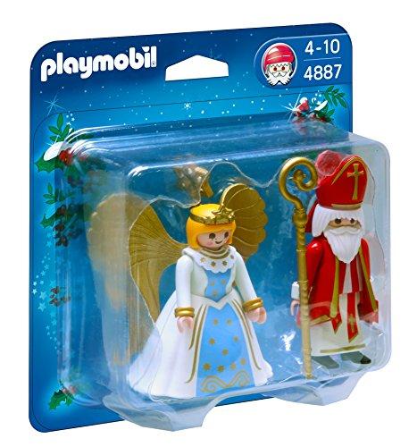 PLAYMOBIL - San Nicolás y ángel, Figuras de Juguete (4887)