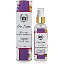 Silverated Lavender & Geranium Tranquility Facial Mist │Alcohol Free │All Natural (100 ML)