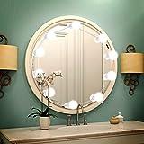 LED Spiegelleuchte Hollywood Stil, Lifelf 10 LED Dimmbare Schmintisch Leuchte Make Up Licht, 538cm Leinenlänge einstellbar 6000K Weiß Schminklicht mit USB-Netzteil, geeignet für Spiegel im Badezimmer, Schminktisch, Schlafzimmer