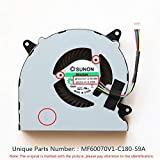 DXCCC Laptop Replacement Cooler Fan For ASUS N550 N550J N550JV N550L N750 N750JV N750JK G550J G550JK CPU Cooling Fan MF60070V1-C180-S9A