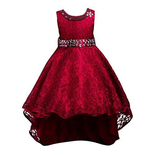Walaka Bebe T-Shirt Sangle Robe de Petite Fille Printemps Automne Robe à Manches Longues Robe Ébouriffer Haut Salopette Plaid Jupe Ensemble 1-5 Ans (2-3 Ans)