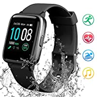 GRDE Smart Watch Bluetooth Fitness Tracker Full Touch Screen Smartwatch Waterproof with Heart Rate Sleep Monitor Pedometer Calorie Counter SMS Call Notification Women