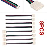 Homebase 8pcs Connector Cable Adapter For 5050 LED RGB SMD Strip