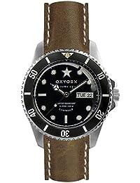 University Sports Press EX-DV-CIG-42-CL-VB - Reloj de cuarzo unisex, correa de cuero color marrón