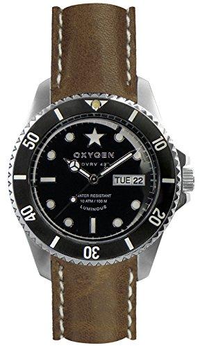 OXYGEN - EX-DV-CIG-42-CL-VB - Montre Mixte - Quartz - Analogique - aiguilles luminescentes - Bracelet Cuir Marron