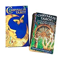 Dinapy 78 Chrysalis Tarot Deck, Full English Tarot Cards, Best Christmas Party Game Cards, Open Mind Tarot Cards,illustrated Scenes - 10x7.5x2.5cm